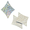 Sequins Hologram 29x36mm With Hole Diamond Silver